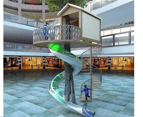 不锈钢半透明滑梯