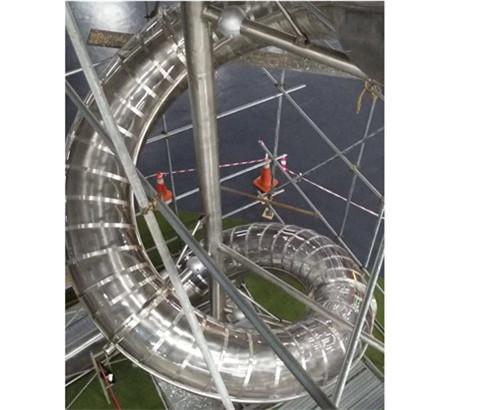 不锈钢滑梯半透明滑梯