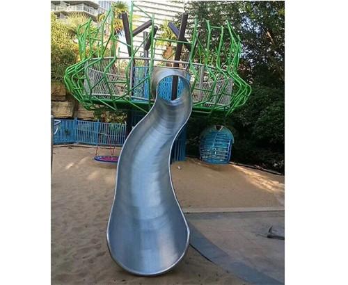 不锈钢半桶滑梯